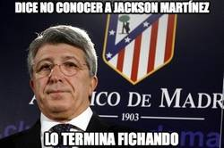 Enlace a Dice no conocer a Jackson Martínez