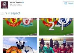 Enlace a El ZASCA de Víctor Valdés a Van Gaal por twitter