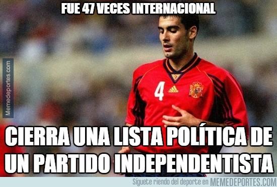 627818 -  Guardiola cerrará la lista independentista de Mas