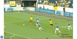 Enlace a GIF: ¡Golazo de Hummels en la pretemporada del Dortmund!