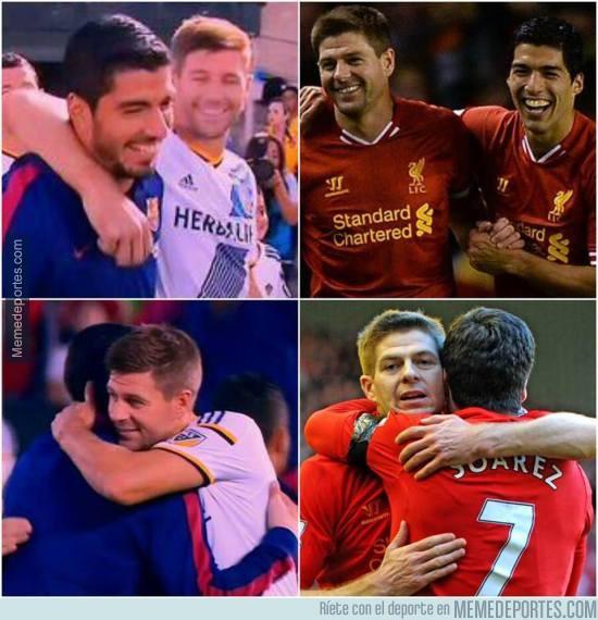 629069 - Esta madrugada ha habido reencuentro de dos ídolos del Liverpool