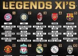 Enlace a El once legendario de cada equipo ¿Cual te gusta?