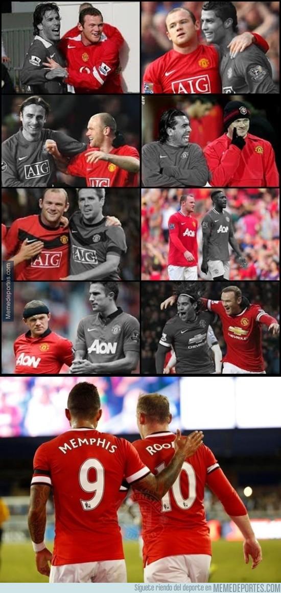 629613 - Los compañeros que han acompañado a Rooney en el ataque