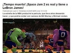 Enlace a GIF: ¡Space Jam 2 con Lebron James ya es real!
