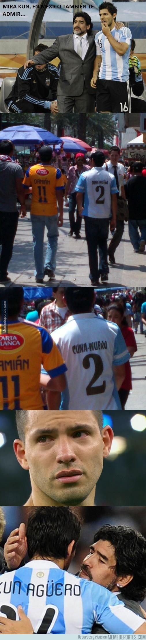 642433 - El Kun Agüero en México