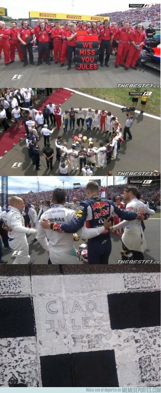643527 - Emotivo homenaje a Jules Bianchi antes del comienzo de la carrera #CiaoJules