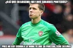 Enlace a Szczesny no es tonto, así que se larga del Arsenal