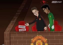Enlace a Van Gaal le presenta a Romero su nuevo amigo