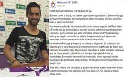 Enlace a Comunicado oficial de Nuno Silva ante su liada parda