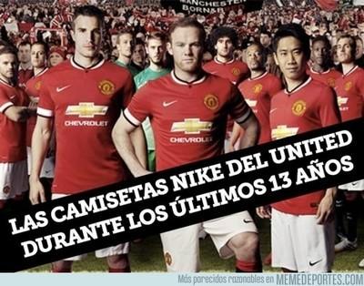 647565 - Las camisetas Nike del United durante los últimos 13 años.