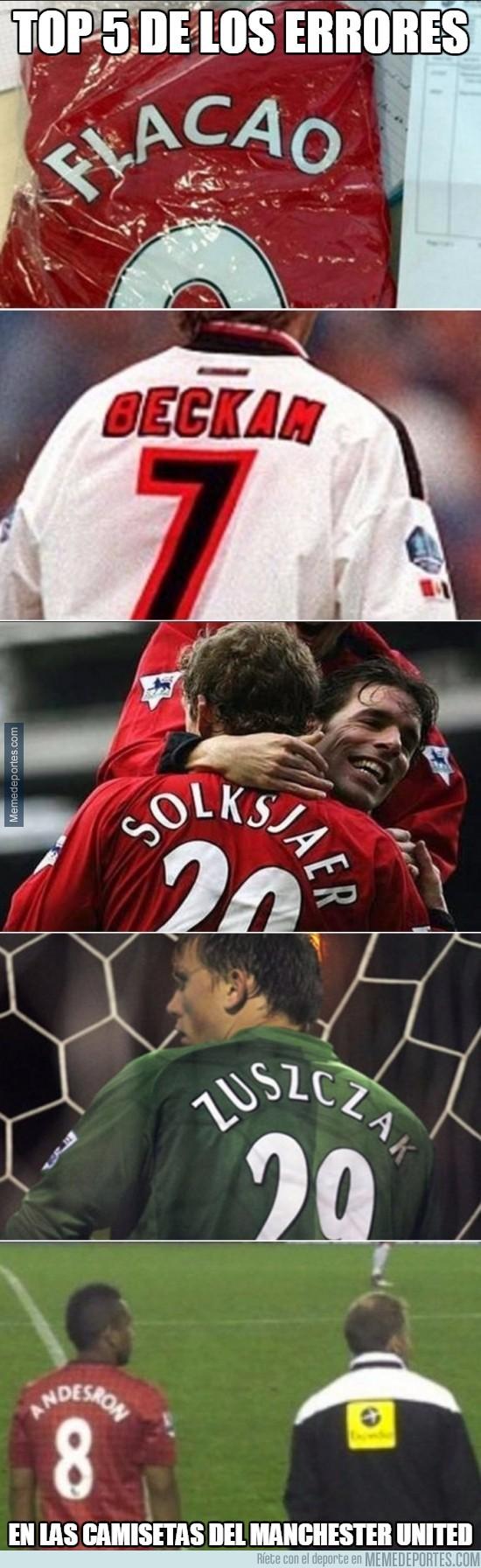 647567 - Los errores en dorsales y el Manchester United, una gran historia de amor