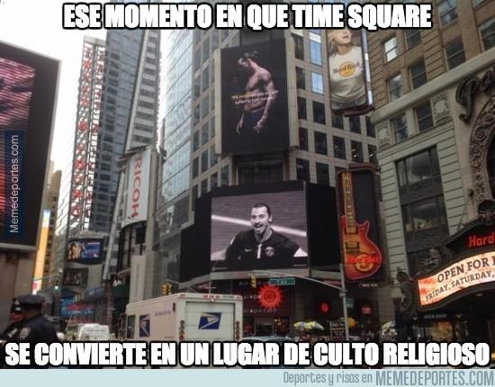 648978 - Time Square se rinde ante el Dios Zlatan