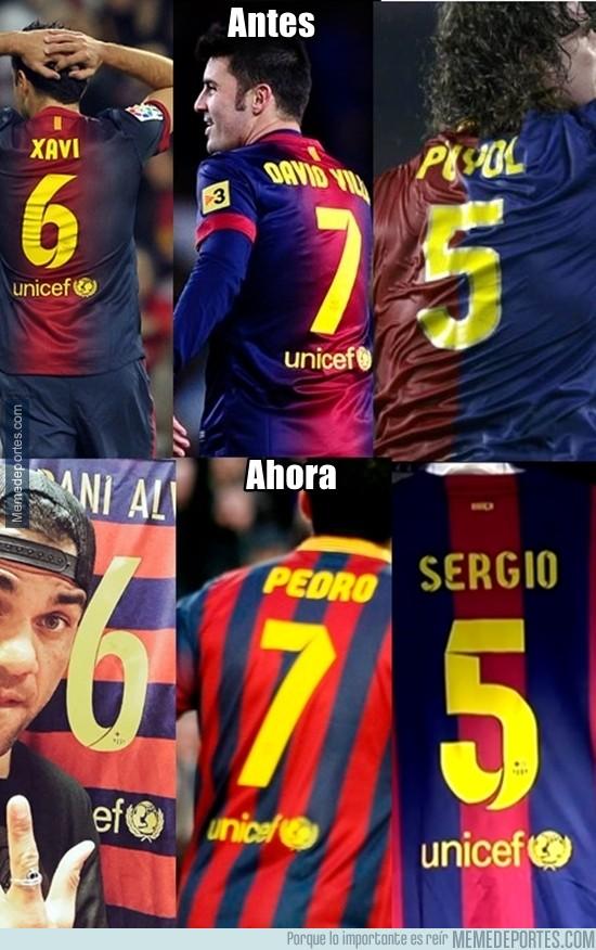 650331 - El antes y ahora de los dorsales del Barça