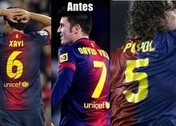 Enlace a El antes y ahora de los dorsales del Barça