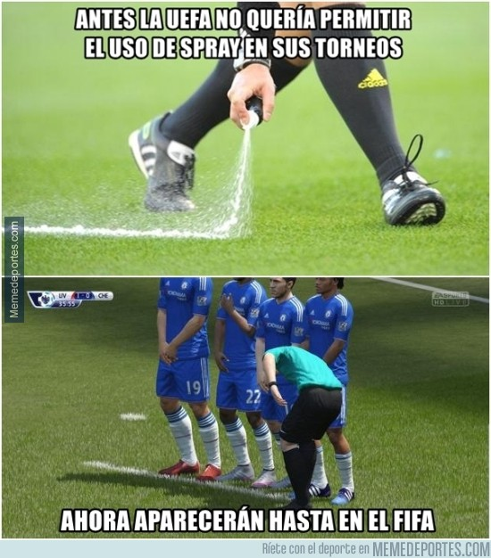 651388 - El nuevo FIFA usará spray