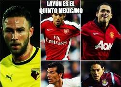 Enlace a Layún, el quinto mexicano