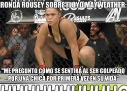 Enlace a Ronda Rousey planta cara al egocéntrico de Mayweather