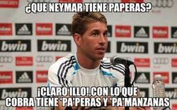 Enlace a Sergio Ramos no se ha enterado que son las paperas