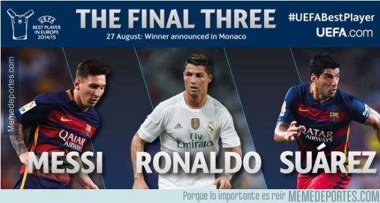 655722 - Messi, Cristiano y Suárez, nominados a mejor jugador de la UEFA 2014/2015