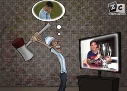 Enlace a Los aficionados argentinos viendo a Messi
