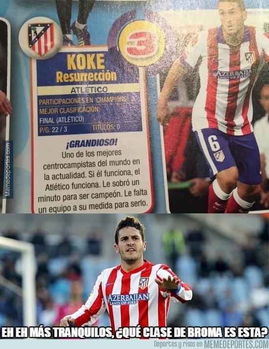 656286 - Lamentable descripción de Panini hacia el Atlético de Madrid en el cromo de Koke