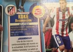 Enlace a Lamentable descripción de Panini hacia el Atlético de Madrid en el cromo de Koke