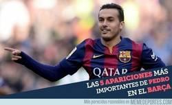 Enlace a Las 5 apariciones más importantes de Pedro en el Barça