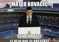 Enlace a Kovacic saludó al madridismo en catalán: 'Bon dia a tots'
