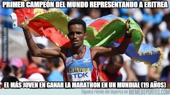 664250 - Primer campeón del mundo representando a Eritrea