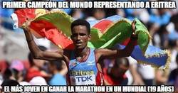 Enlace a Primer campeón del mundo representando a Eritrea