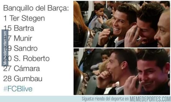 664639 - Cuando ves el banquillo del Barça