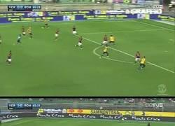 Enlace a GIF: Así acabó el partido entre la Roma y el Hellas Verona