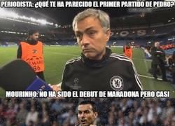 Enlace a Pedro entra en el selecto club de jugadores que ha piropeado Mourinho