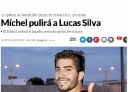 Enlace a Michel poniendo a punto a Lucas Silva