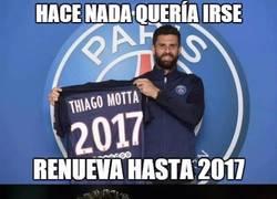 Enlace a Thiago Motta haciendo un Ramos