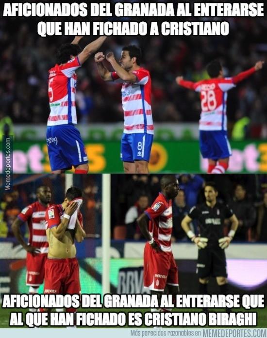 669596 - ¡¡El Granada ha fichado a Cristiano!!