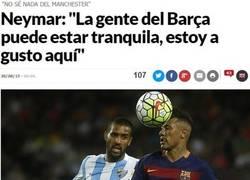 Enlace a Estas declaraciones de Neymar son un gran alivio para los culés