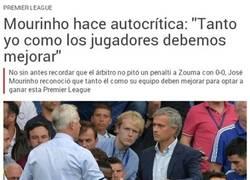Enlace a Mourinho haciendo autocrítica