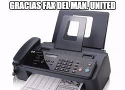 Enlace a Gracias fax del Manchester United