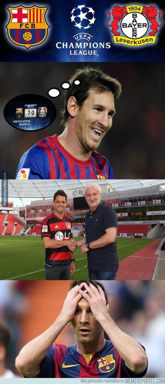 674145 - Chicharito llega para salvar al Bayer Leverkusen