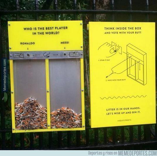 676222 - Mientras tanto, en Inglaterra los fumadores votan por quién es el mejor jugador del mundo