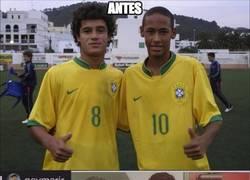 Enlace a Neymar y Coutinho