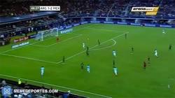 Enlace a GIF: Messi emulando a Götze salva a Argentina ante México