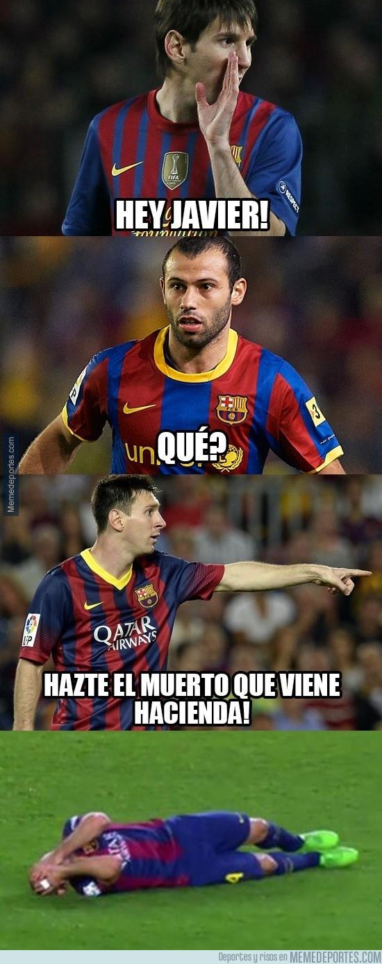 681334 - Messi aconsejándole a Mascherano