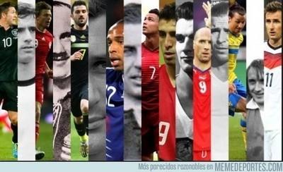 681864 - Máximos goleadores de las principales selecciones europeas