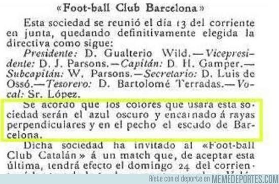 682245 - La nueva camiseta del Barça no cumple el acuerdo de 1899