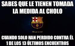 Enlace a El Barça vs El Cholo