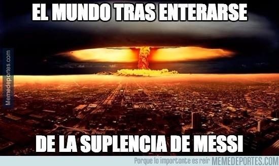 683353 - El mundo tras enterarse de la suplencia de Messi
