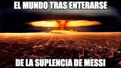 Enlace a El mundo tras enterarse de la suplencia de Messi