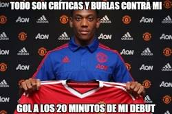 Enlace a Gran debut de Martial